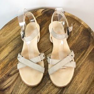 Eileen Fisher Leather Strappy Sandals